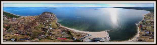 Kaberneeme küla, Kaberneeme poolsaar. Sadam. Koipsi ja Rammu saared, Kolga laht
