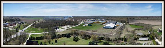Imavere. Puidutööstus. Piimandusmuuseum  Aerofoto / aerial photo. Aeropanoraam