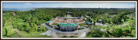 Kadrioru loss, park. Aerofoto. Aerial photo. Aerial panorama