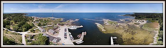 Prangli. Kelnase sadam. Aerofoto. Aerial photo. Aeropanoraam.